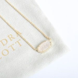 KENDRA SCOTT ELISA GOLD DRUSY NECKLACE NEW